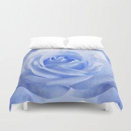 Pastel Blue Rose Duvet Cover