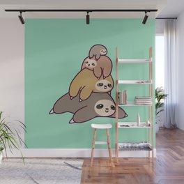 Sloth Stack Wall Mural