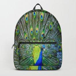 Flashy Peacock Backpack