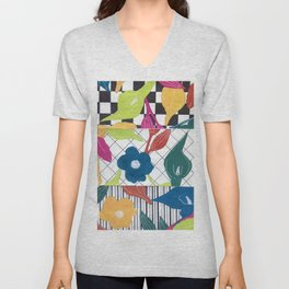 abstract cala N.o 1 Unisex V-Neck