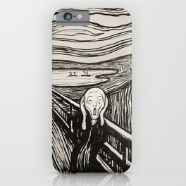 The most famous scream in the world of art iPhone Case