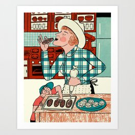 Deb at Home Art Print