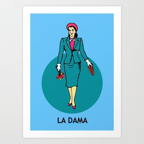 La Dama Mexican Loteria Art Print By Minerva Torres Guzman