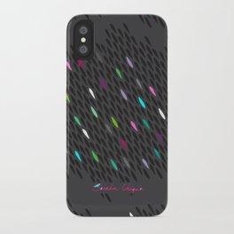 Mini Black Petal Chain iPhone Case