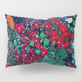 Wild Flowers in Golden Syrup Tin on Blue Pillow Sham