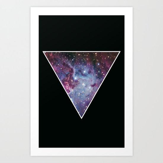 Galaxy Triangle Print Art Print