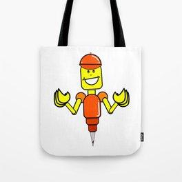 Doug The Digger Robot Tote Bag