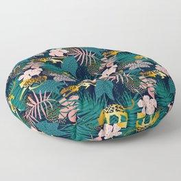 GOLD LEOPARD JUNGLE PATTERN Floor Pillow
