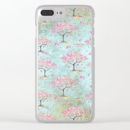 Spring Flowers - Cherry Blossom  Tree Pattern Clear iPhone Case