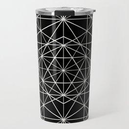 Islamic Motif - Geometric Pattern (White) Travel Mug