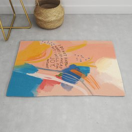Find Joy. The Abstract Colorful Florals Rug