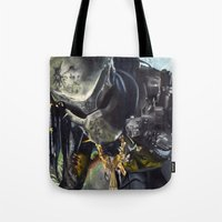 predator Tote Bags featuring Predator by Patricia Lull