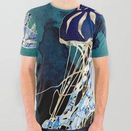 Metallic Jellyfish III All Over Graphic Tee