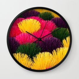 Colors in sticks Wall Clock