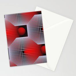 3D - abstraction -50- Stationery Cards