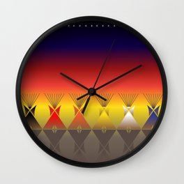 Night Tipi Wall Clock