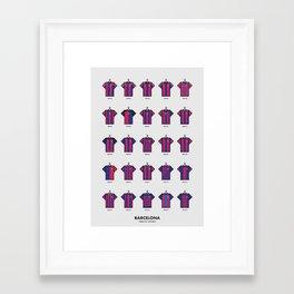25 Years of Kits Barcelona Framed Art Print
