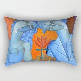 Blue Lovers Rectangular Pillow