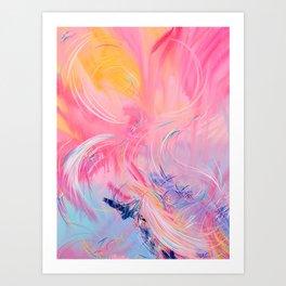Beneath The Wings Of Free Swan (Deanne's Song) Art Print
