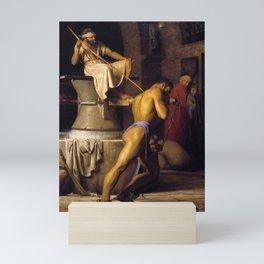 Samson and the Philistines by Carl Bloch Mini Art Print