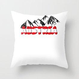 Austria mountains hiking holiday Tirol Throw Pillow
