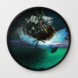 Kraken Attack Wall Clock