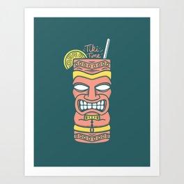 Tiki Time Art Print