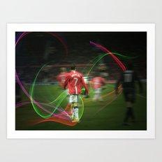 Ronaldo Remix Art Print