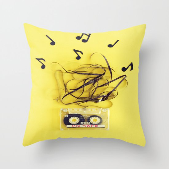 Mix Tape (ANALOG ZINE) Throw Pillow