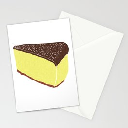 Yellow Cheesecake with Chocolate Frosting Stationery Cards
