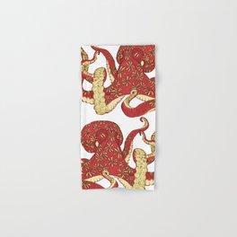 Flowered Octopus Hand & Bath Towel