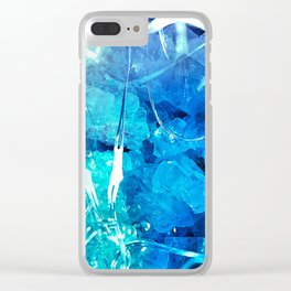 Crystal Blue Lights Clear iPhone Case