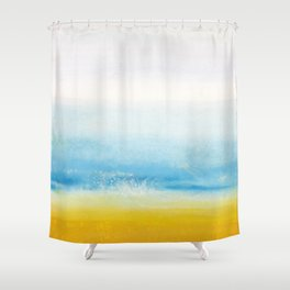 Waves and memories Shower Curtain