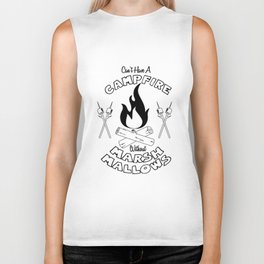 Marshmallows on a Campfire Biker Tank
