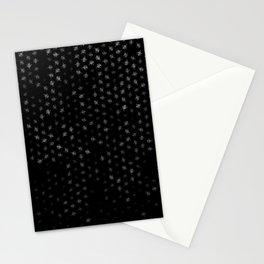 leo zodiac sign pattern bw Stationery Cards