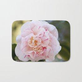 Strawberry Blonde Camellia Up Close Bath Mat