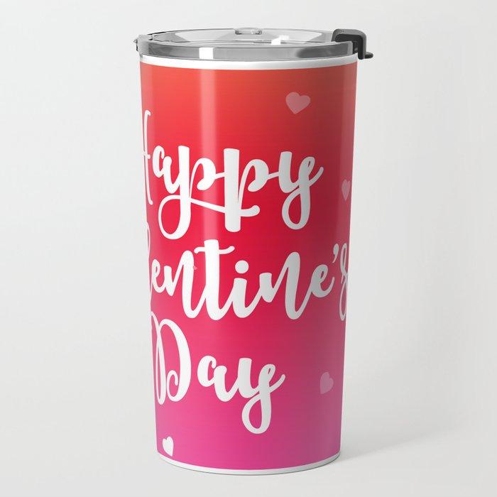 Happy Valentine's Day Hearts Travel Mug