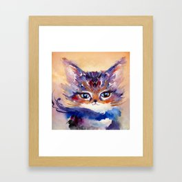 Lionmew Embarks on a Grand Adventure Framed Art Print