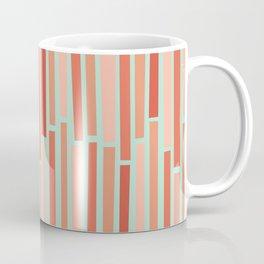 Pink Rows in Mint Coffee Mug