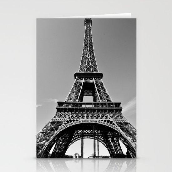 Tower Eiffel En Noir Stationery Cards