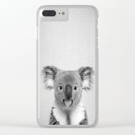 Koala 2 - Black & White Clear iPhone Case