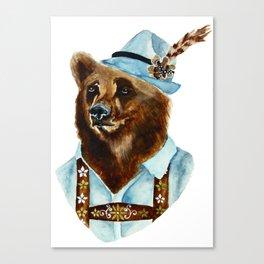Bear-Varian  Canvas Print