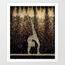 Sparkle Gymnast Art Print