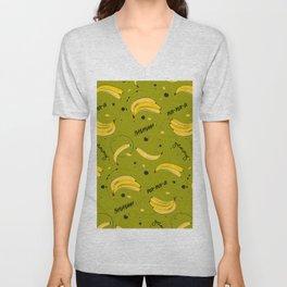 Bananas pattern Unisex V-Neck