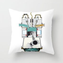 Induction Stroke Throw Pillow