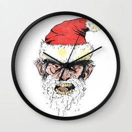 Rabies Santa Wall Clock