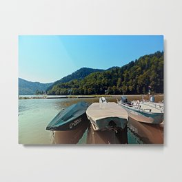 Boats in the harbour III | waterscape photography Metal Print