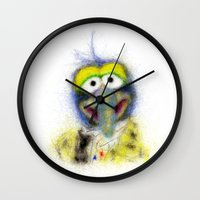 muppets Wall Clocks featuring Gonzo, The Muppets by KitschyPopShop