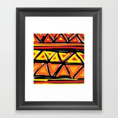 Hot Triangles Framed Art Print