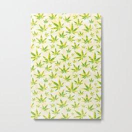 Weed OG Kush Pattern Metal Print